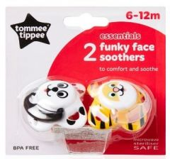 [4] TOMMEE TIPPEE FUNKY FACE 6-12M ORTHODONTIC