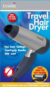 **DISCONTINUED** [2] TRAVELS HAIR DRYER(D)