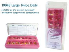 PILLMATE LARGE TWICE DAILY