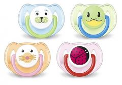 [3] AVENT SOOTHERS 6-18 MONTHS SILICONE ANIMAL