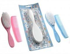 Baby Brush & Comb Set - White
