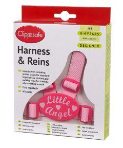 CLIPPASAFE HARNESS/REINS DESIGNER - LITTLE ANGEL (D)