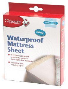 CLIPPASAFE MATTRESS SHEET SINGLE BED (D)