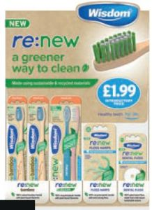 [1x30] ECO-FRIENDLY TOOTHBRUSHES / FLOSSES IN DISPLAY