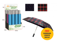 *NEW* DASH UMBRELLAS - 3 SECTION AUTO , WIND PROOF, WITH FREE DISPLAY