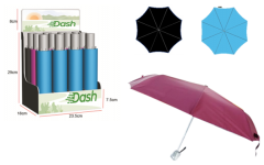 *NEW* DASH UMBRELLAS - 3 SECTION AUTO, WITH FREE DISPLAY