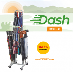 *NEW* DASH UMBRELLAS - FLOOR STAND DEAL *5% OFF THIS DEAL*