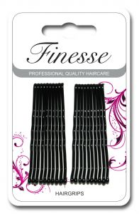 [6] FINESSE HAIRGRIPS - LONG BLACK