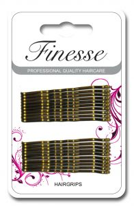 [6] FINESSE HAIRGRIPS - BROWN4.5CM