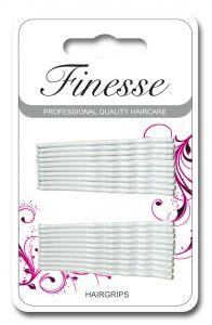 [6] FINESSE HAIRGRIPS - WHITE 4.5CM