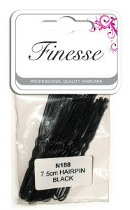 FINESSE WAVED HAIR PINS BLACK