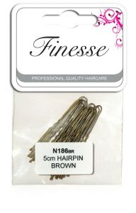 [6] FINESSE WAVED HAIRPINS BROWN