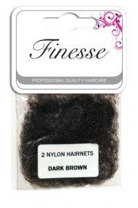 Finesse Hairnets - Dark Brown 2pk