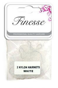 Finesse Hairnets - White 2pk