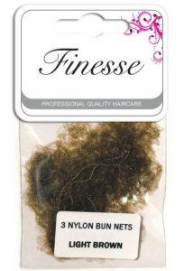 Finesse Bun Nets - Light Brown 3pk