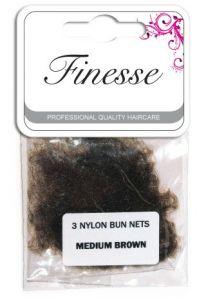 Finesse Bun Nets - Medium Brown 3pk