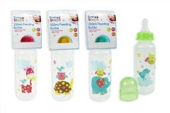FIRST STEPS FEEDING BOTTLE 250ML ASS