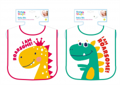 *NEW* FIRST STEPS TERRY/PEVA BIB WITH VELCRO