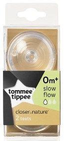 [4] TOMMEE TIPPEE CTN TEATS SLOW FLOW 0 MONTHS+