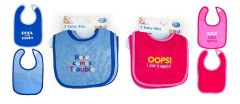 [12] SOFT TOUCH BIBS ASSORTED COLOURS (D)