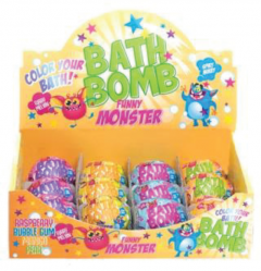 Funny Monsters Water Colouring Fizzing Bath Bombs 100g