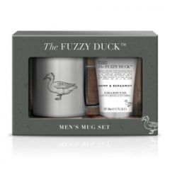 Fuzzy Duck Mens Hemp & Bergamot Mug Set