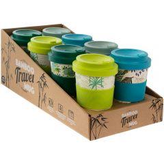 Bamboo Travel Mug 4 Asst 350ml