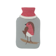 [12] MISTRY PREMIUM KNITTED COVER HOT WATER BOTTLE-ROBIN (D)