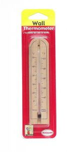 [3] BRANNAN WOOD WALL THERMOMETER