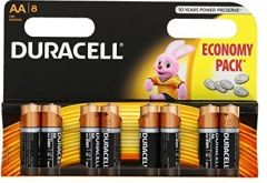 [12] DURACELL BATTERIES AA - 8 PACK