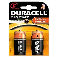 [10] DURACELL BATTERIES- C 2PK