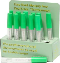 MERCURY-FREE GLASS THERMOMETER