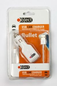 OBJECT MOBILE PHONE USB CAR CHARGER & CABLE (D) *EXTRA 1