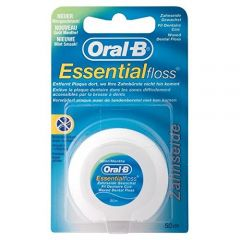 ORAL-B ESS DENTAL FLOSS WAXED MINT 50MTR