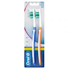 ORAL-B T/BRUSH CLASSIC CARE TWIN PACK 40MED