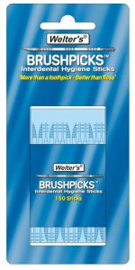 WELTER'S INTERDENTAL BRUSHPICKS - PACK OF 150