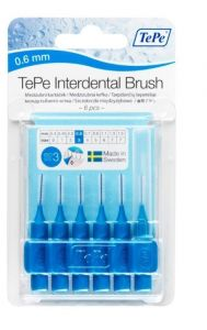 TEPE INTERDENTAL BRUSHES SIZE 3 - BLUE-0.6MM