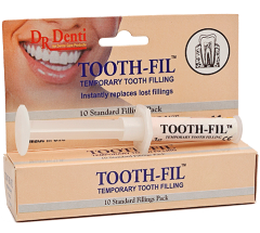 DR. DENTI TOOTHFIL - TEMPORARY TOOTH FILLING, 10 FILLINGS PER PACK