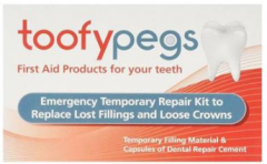*NEW* TOOFYPEGS - EMERGENCY TEMPORARY TOOTH REPAIR KIT