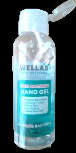 WELLAB ANTI-BAC HAND GEL 100ML, 75% ALCOHOL, UK BRAND