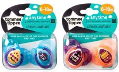 [3] TOMMEE TIPPEE ANYTIME BOY SOOTHERS 6-18M