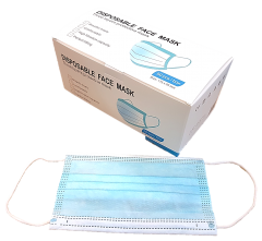 [1x50] FACE MASKS 3 PLY SURGICAL EAR LOOPED - BOX OF 50