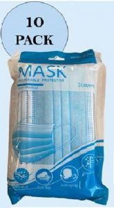 *NEW* FACE MASKS 3 PLY - HANDY PACK OF 10