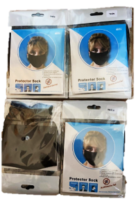[1x20] RE-USEABLE FACE MASKS - BLACK & WHITE ASSORTED