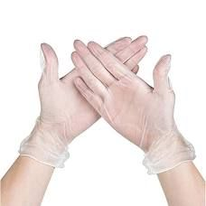 VINYL GLOVES CLEAR POWDER FREE - LARGE - BOX OF 100