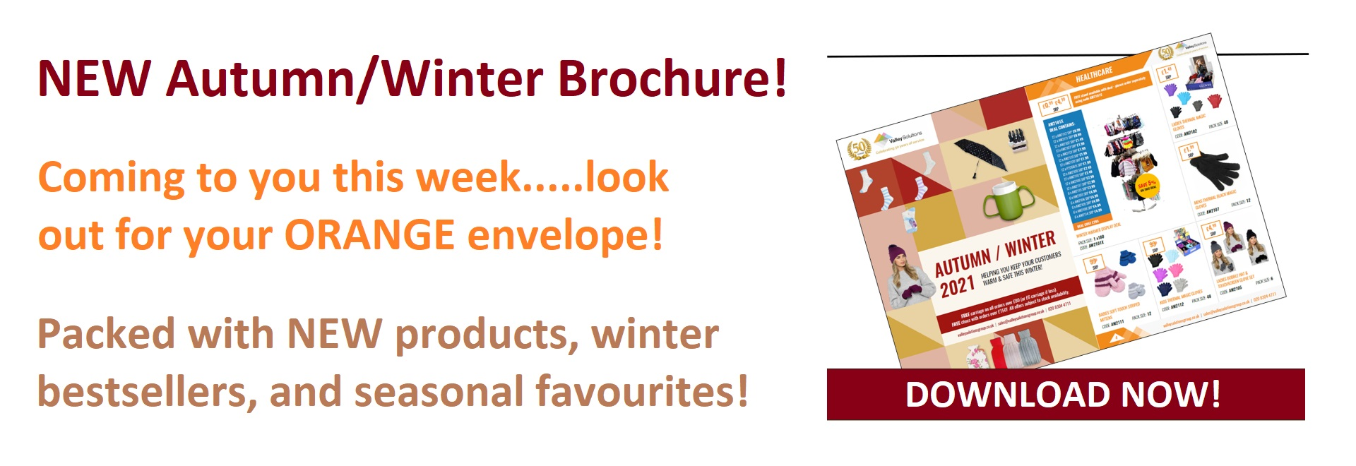 New autumn / winter Brochure