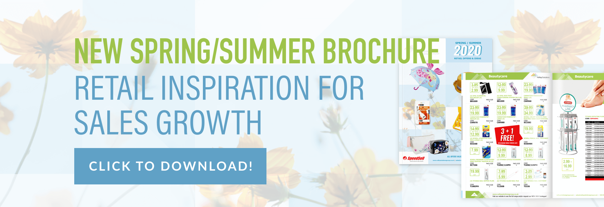 New spring/summer brochure. Retail inspiration for sales growth. Click to download